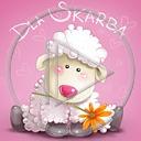 zwierzęta kwiat kwiaty owca owieczka napis zwierze dla skarba