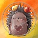 zwierzęta serce miłość jabłko owoce jeż jesień gruszka jeżyk jeże serca zapasy