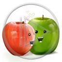 jabłko owoce buzia zielone jabłka buzie czerwone