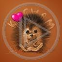 zwierzęta serce miłość kocham jeż miłosne serca zwierze