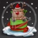 zwierzęta święta zima śnieg renifer Boże Narodzenie prezenty świąteczne