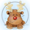 zwierzęta święta zima śnieg renifer Boże Narodzenie świąteczne