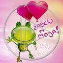 zwierzęta serce miłość żaba płaz napis miłosne żaby serca zwierze żabciu ty moja