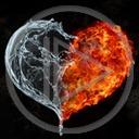 serce miłość ogień woda serduszka miłosne serduszko serca