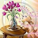 pies serce miłość kwiaty piesek walentynki bukiet miłosne serca