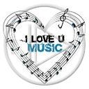 serce miłość muzyka nuty serduszka music melodia pięciolinia miłosne serduszko serca muzyczne I LOVE U
