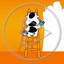 zwierzęta krowa krówka drabina malowanie zwierze remont