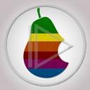 jabłko owoce owoc paski jabłka kolorowe nadgryzione