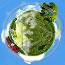 niebo Ziemia świat kula ziemska glob