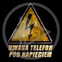 znak uwaga symbol piorun napis ostrzeżenie tekst znaki symbole pod napięciem uwaga telefon