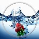 woda owoce owoc truskawka truskawki