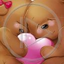 serce miłość miś para misie misio miłosne serca miśki misiaczki pluszak
