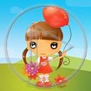 balony balon dzieci postać dziewczynka osoba dziewczynki