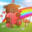 serce miłość miś misiek misie tęcza miłosne misiaczek serca