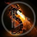 ogień smok znak symbol dragon płomień smoki