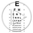 wzrok tablica litery napis plansza tekst czytać badanie wzroku