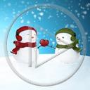 serce miłość zima para śnieg bałwan zakochani miłosne bałwany serca