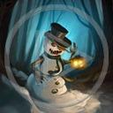 las noc lampa zima śnieg bałwan bałwanek bałwany