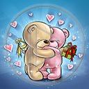 serce miłość miś święta para misie Boże Narodzenie zakochani miłosne prezenty serca świąteczne