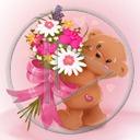 miłość miś kwiaty misiek bukiet misie misio miłosne kwiatki miśki pluszak