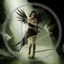 kobieta anioł postacie postać dziewczyna osoby osoba czarny anioł