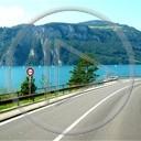 krajobraz góry jezioro szwajcaria droga różne widok plener