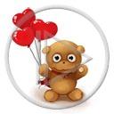serce miłość miś balony serduszka balon misie misio miłosne misiaczek serca
