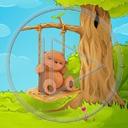miś drzewo lato misiek misie misio huśtawka przyroda