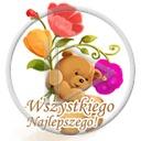 miś kwiaty misiek misie misio wszystkiego kwiatki dzień kobiet najlepszego