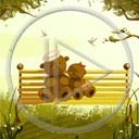miś misie misio ławka wiosna miśki ławeczka
