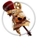 muzyka kości czaszka gitara czacha muzyczne love rock kocham rocka